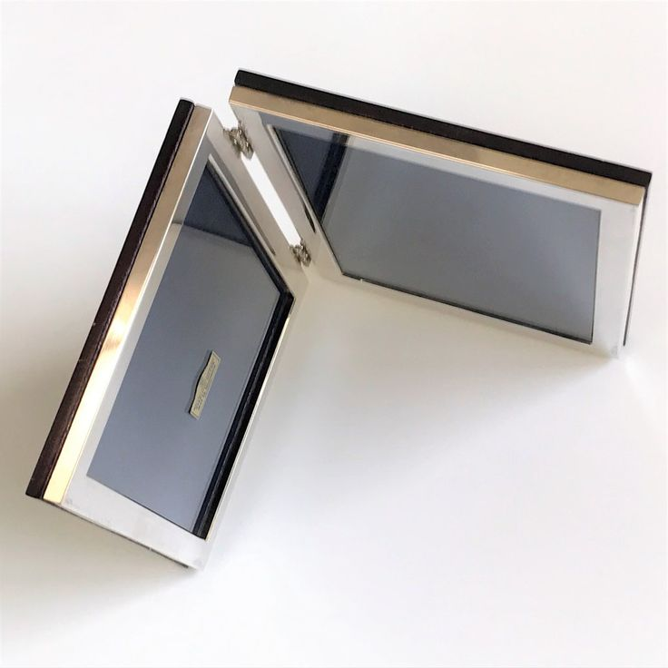 Modern Sterling Silver Double Photo Frame