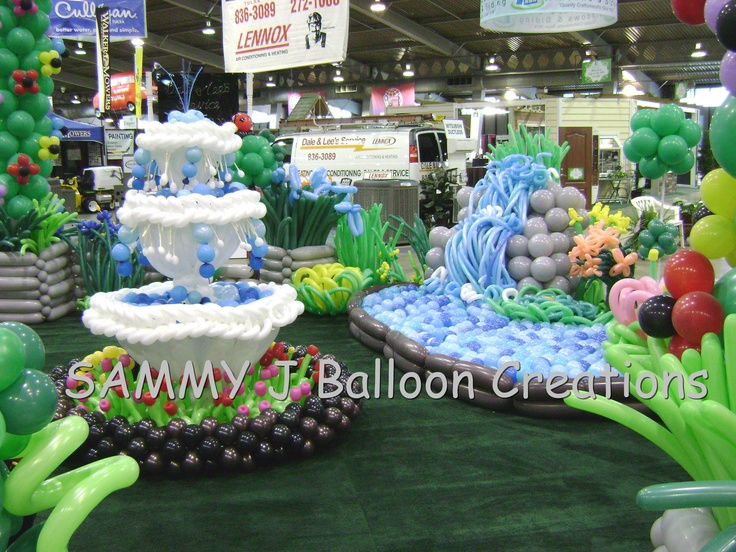 Balloon Garden Created For The Tulsa Home Show Set Up In