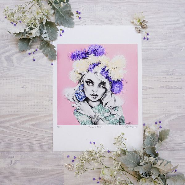 'Garden Party' print by fashion illustrator Pippa McManus. Available from www.pippamcmanus.com Flatlay by @ahoycapnmueller