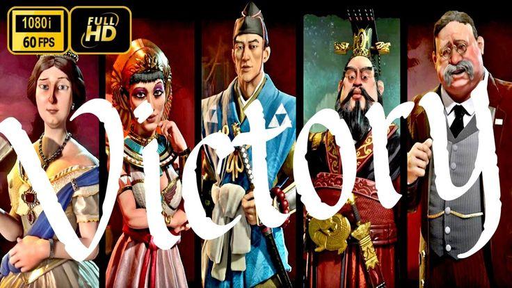 Civilization 6 Victory All Cutscenes HD 60fps - Civ 6 Cutscenes http://youtu.be/1ap2ZbLORzI