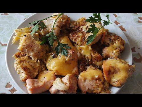 Сочная куриная грудка с сыром в духовке - YouTube