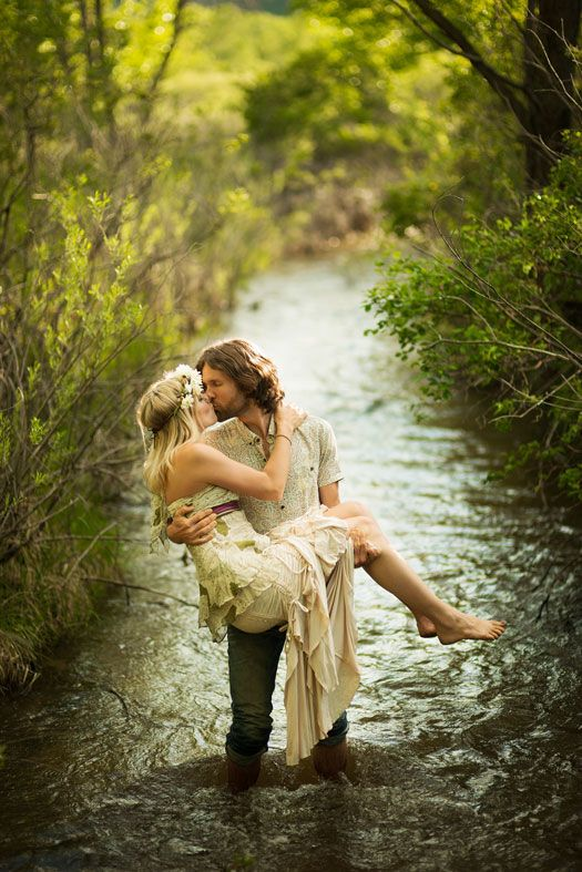 A Romantic Bohemian Engagement in Boulder. (Photo by James Moro Photography)