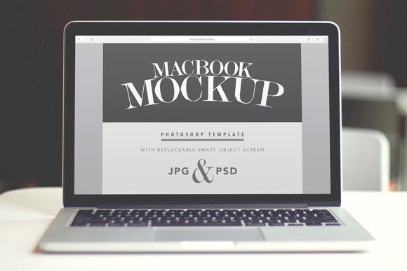 Macbook Pro Mockup - PSD Template by Means For Makers on Creative Market  #templates #graphics #downloads #resources #blogresources #designresources #laptop #macbook #macbookpro #macbookmockup