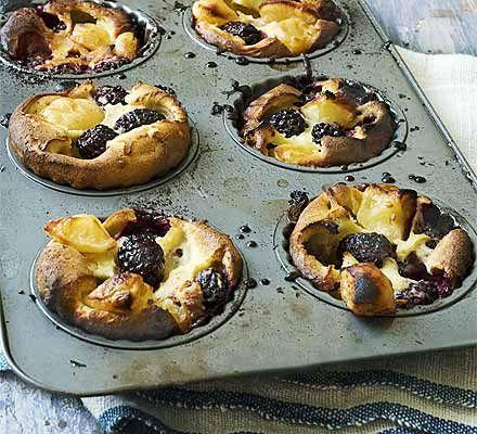 Blackberry & apple Yorkshire puddings
