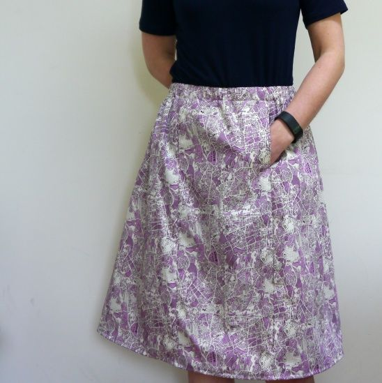 Seamwork: Bristol Map Skirt by Giddy