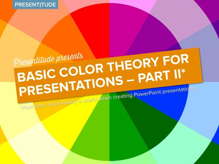 Color Theory Presentation Design And Presentation On