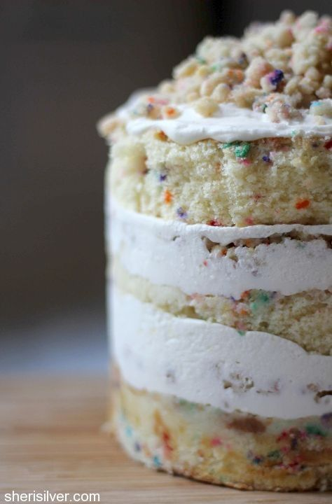 birthday layer cake adapted from Momofuku Milk Bar, for when I have ridiculous amounts of free time