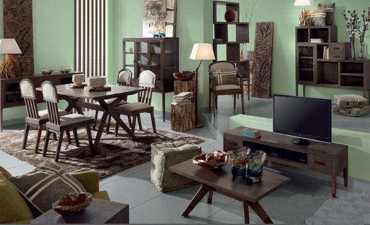 Salon Comedor industrial Spartan http://www.artesaniadecoracion.com/tienda/Salon-Industrial-Colonial.html
