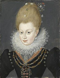 Estrées.jpg Gabrielle d'Estrees, Marquise de Monceaux.....mistress of Henri IV of France (married to / divorced from Marguerite de Valois.)