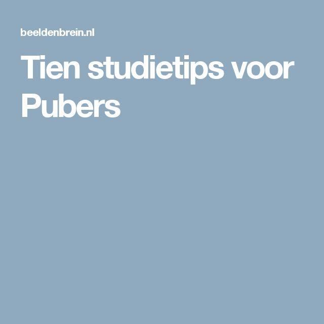 Tien studietips voor Pubers