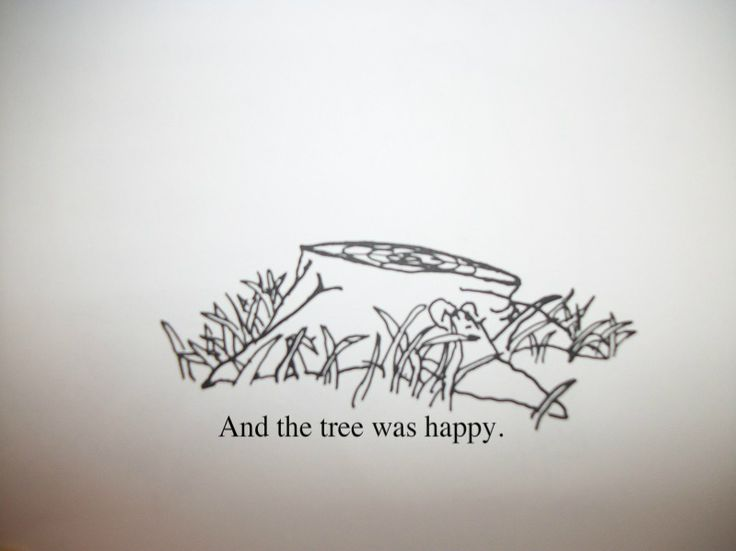 "I want this as a tattoo  ""The Giving Tree"" by Shel Silverstein"