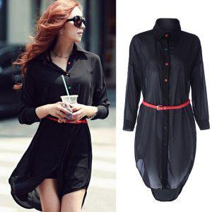 Vestidos tipo camisa verano 2015 1