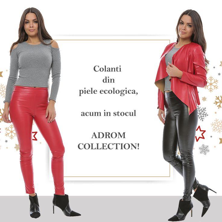 Colanți confecționați din piele ecologică, potriviți pentru perioada de iarnă. Sunt perfecți pentru a fi purtați la evenimente speciale, asortați cu o bluză scurtă, sau lungă, după bunul plac. <3  Pentru comenzi online: http://www.adromcollection.ro/pantaloni/417-colanti-angro-p090.html