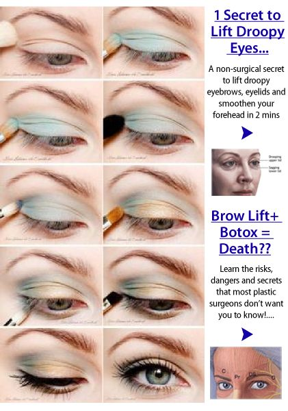 Eye makeup for heavy lids