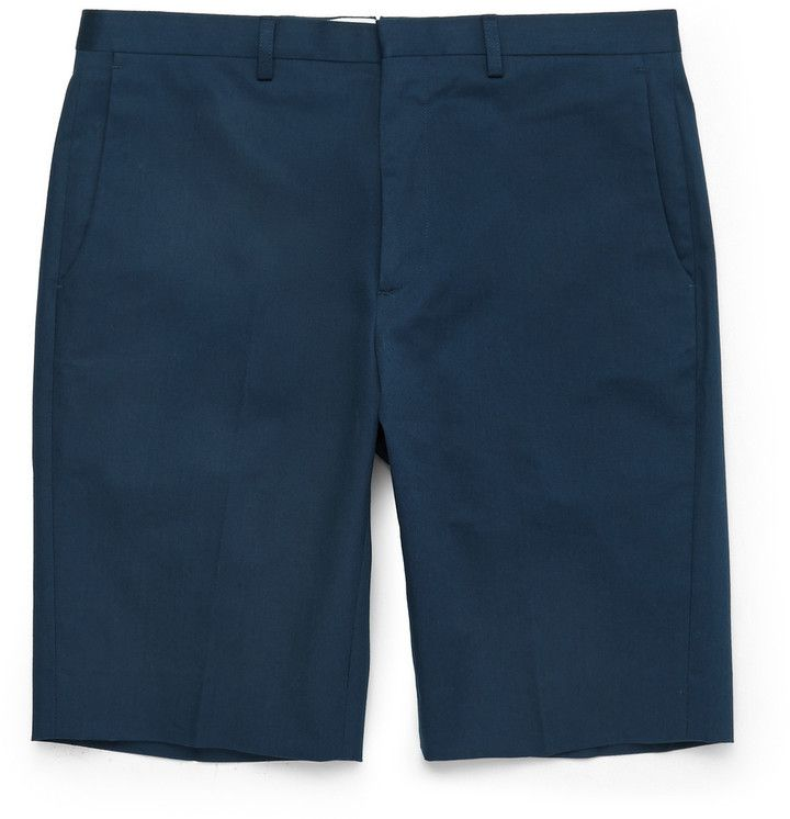 $195, Paul Smith Ps By Slim Fit Stretch Cotton Twill Shorts. Sold by MR PORTER. Click for more info: https://lookastic.com/men/shop_items/305024/redirect