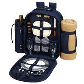 Found it at Wayfair - Bold Picnic Backpack with Blanket and Two Place Settings