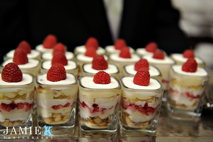 strawberry shortcake dessert in glass charity dinner