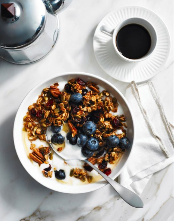 Coconut Butter Granola from How Sweet It Is via Camille Styles