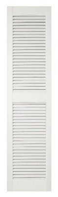 Severe Weather 15-in x 36-in Louvered Shutters