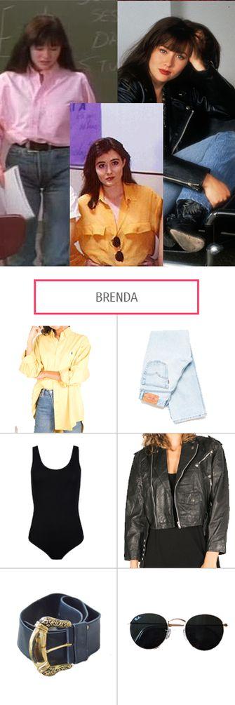 Die rich Kids Kelly, Brenda und Donna aus Beverly Hills 90210 bieten ziemlich coole Style-Vorlagen, die unbeding mal fair und nachhaltig kopiert werden mussten. Et voilà: Brenda Walsh.