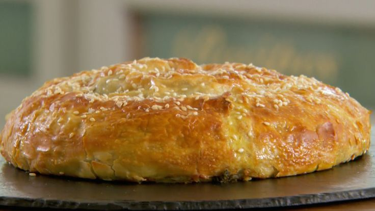 This Spanakopita is Paul's interpretation of the showstopper challenge in the Pies & Tarts episode of Season 2 of The Great British Baking Show.