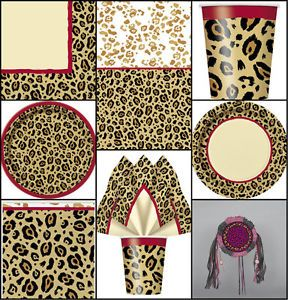 LEOPARD CHEETAH ANIMAL PRINT BIRTHDAY PARTY TABLEWARE DECORATIONS PLATES CUPS | eBay