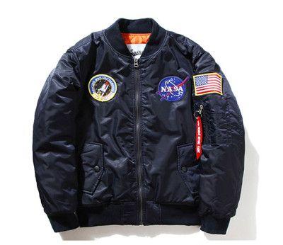Brand NASA Kanye West Basic Jackets New Women USAF Military Bomber Jacket Plus Size XXL Unisex Women Winderbreak Coats SMC0296-4