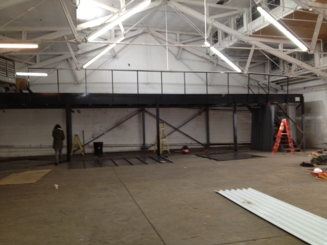 how to build a steel mezzanine floor