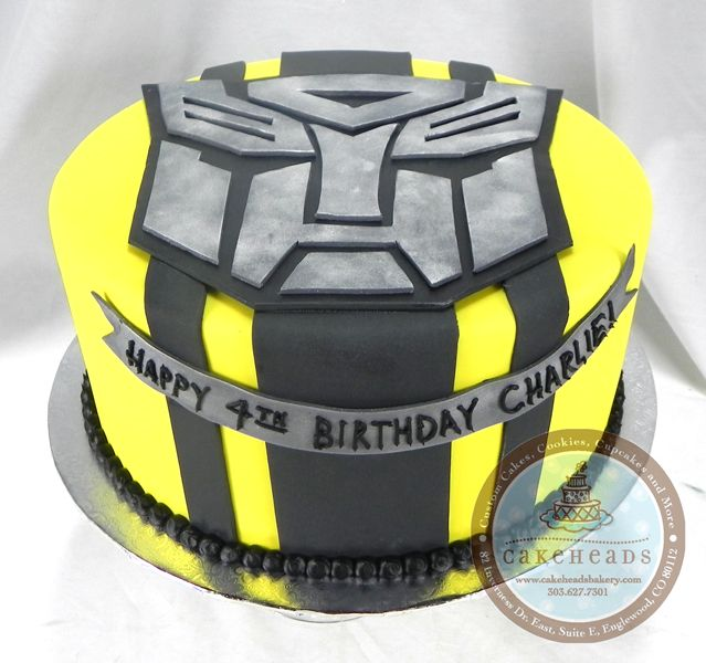 Bumblebee Transformers Birthday Cake