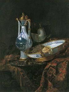 ¿Cómo vemos en Arte Mutante? Bodegón con aguamanil, frutas, copa nautilo y otros objetos, Willem Kalf 1660 #artemutante