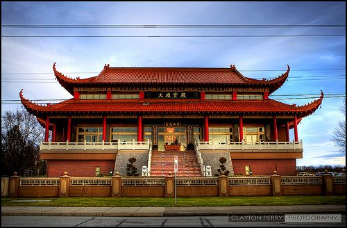 The Ling Yen Mountain Temple in Richmond, British Columbia, Canada is a Buddhist monastery, designed by Pacific Rim Architecture in the Chinese palatial style and completed in 1996.[1] The temple has about 10,000 members in Greater Vancouver and several dozen resident monastics.