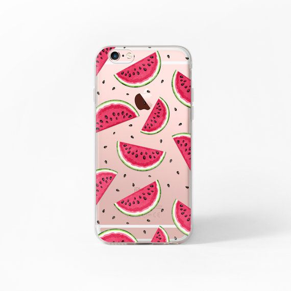 iPhone 6 Fall Wassermelone iPhone 6 s Fall klar von MargaritaCase