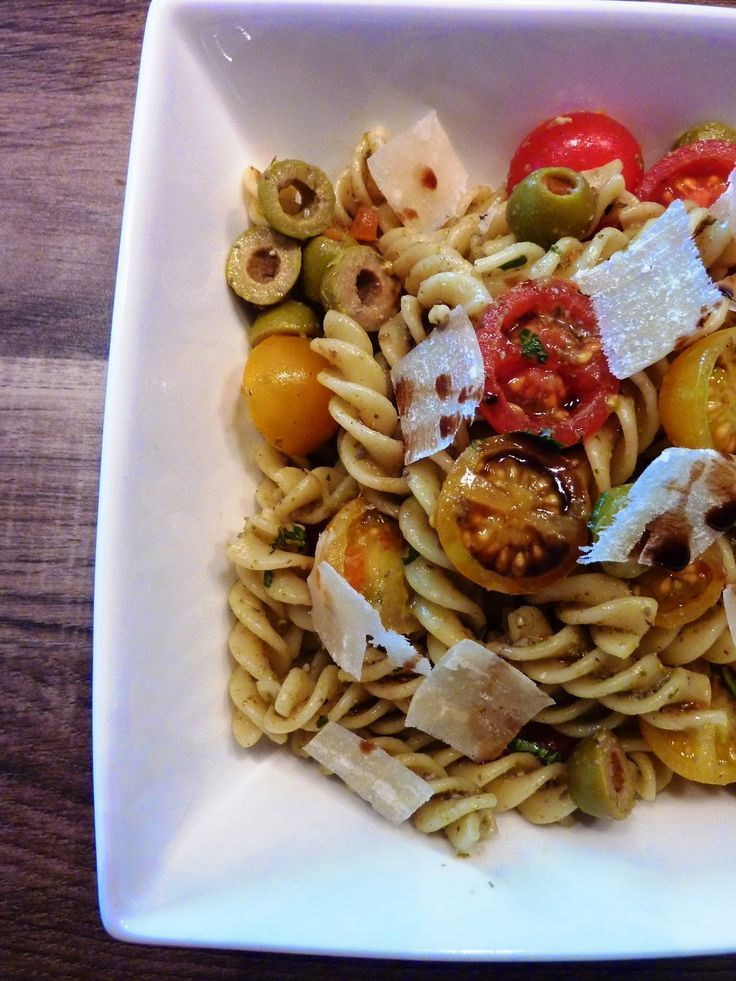 Blog de recettes Weight Watchers Propoint... Ou pas!: Salade de pâtes au pesto - Recette Weight Watchers Propoint