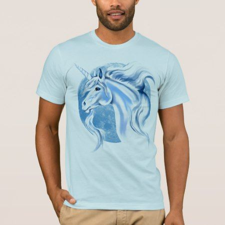 Sky Blue and White Unicorn Shirts - tap to personalize and get yours