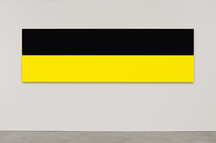 Ellsworth Kelly, Yellow Relief over Black 2013 Oil on canvas, two joined panels 40 1/8 x 130 inches; 102 x 330 cm