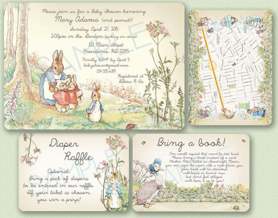 Peter Rabbit Baby Shower Invitation  Peter Rabbit / by strangers