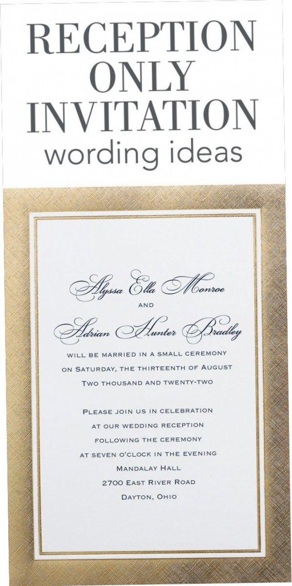 Wedding Reception Invitation Quotes