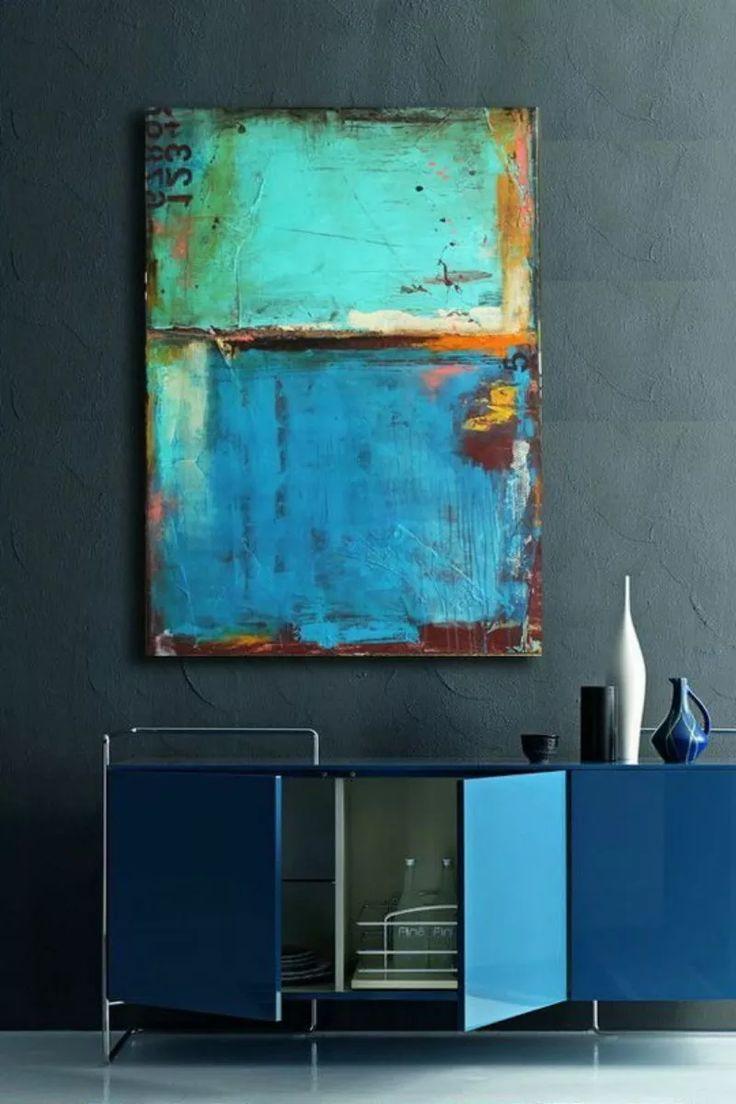 Cuadros Modernos 80x130 Abstractos Tripticos Decorativos - $ 3.099,99