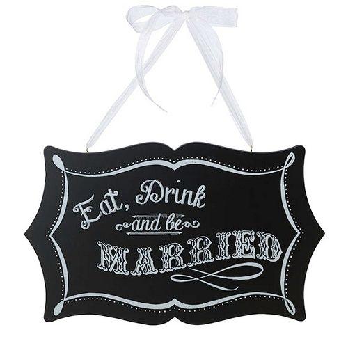 Vintage Chalkboard Sign for Wedding Reception | #exclusivelyweddings