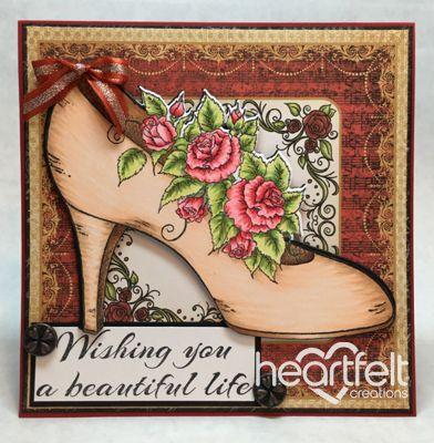 Heartfelt Creations | Beautiful Heel And Roses