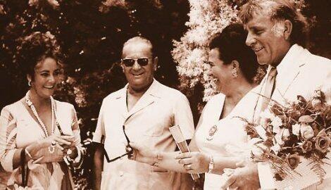 Tito with his wife Jovanka, Elizabeth Taylor in Richard Burton.