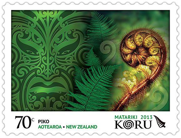 Virtual New Zealand Stamps: Matariki / Maori New Year #koru