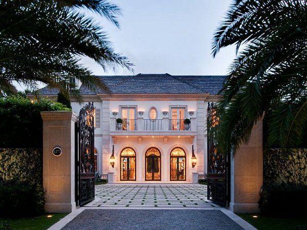 Palm Beach Mansion entry gates