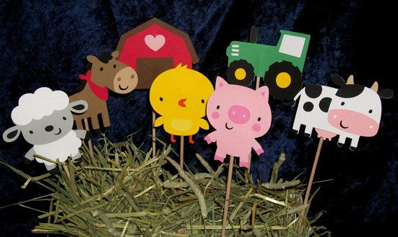 Barnyard Buddies Table Decorations ... by APaperPlayground on Etsy, $2.00