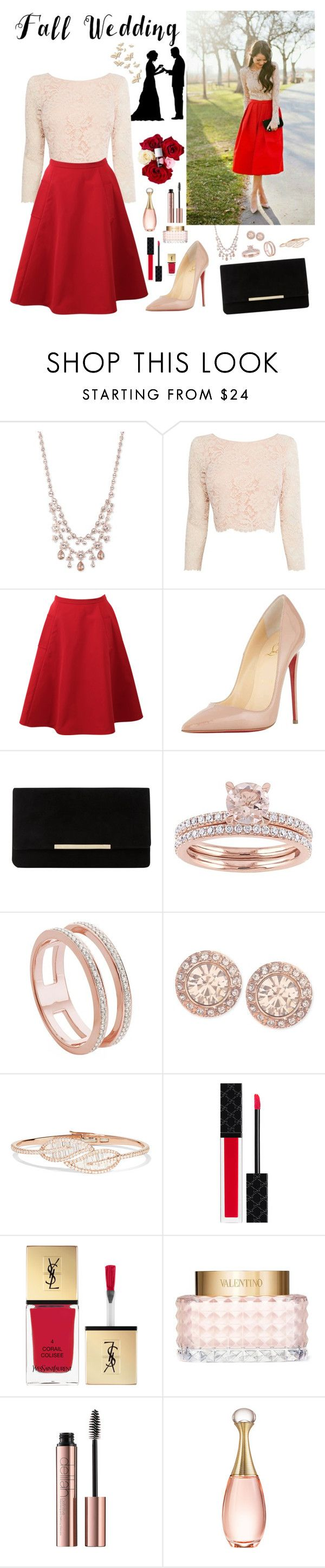 """""""Fall Wedding Guest Outfit"""" by whims-and-craze ❤ liked on Polyvore featuring Givenchy, Coast, Lanvin, Christian Louboutin, Dune, Monica Vinader, Anita Ko, Gucci, Yves Saint Laurent and Valentino"""