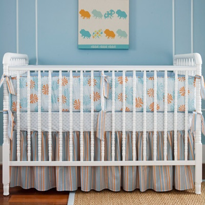Orange Baby Nursery Bedding