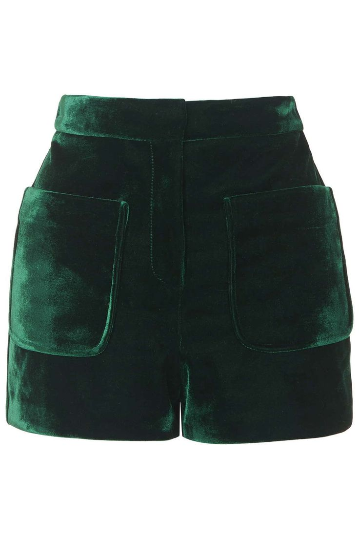 These would be cute in the winter with tights and booties. Velvet Patch Pocket Shorts