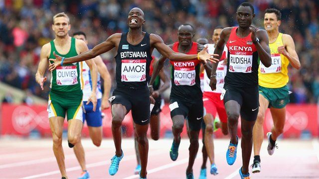 Glasgow 2014: Nijel Amos beats David Rudisha to 800m gold
