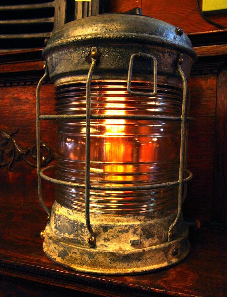 Galvanized Steel And Bronze Ship S Lantern Vintage