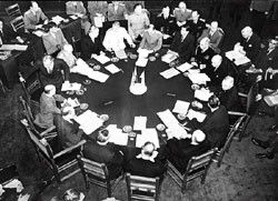 The Potsdam Conference of victorious Allies in July, 1945, brought the Soviet Union's commitment to entering the war against Japan. The result was a Soviet occupation of northern Korea and Korea's partition along the 38th parallel.